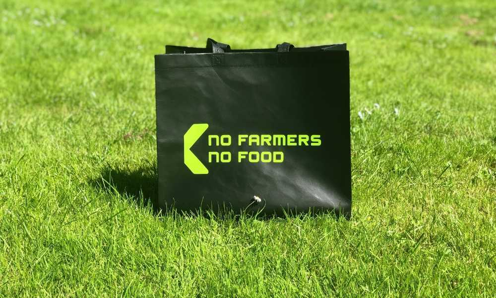 No Farmers No Food tas Klaver Agrarisch